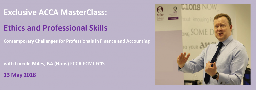 ACCA Masterclass - Ethics and Professional Skills Module 13 May