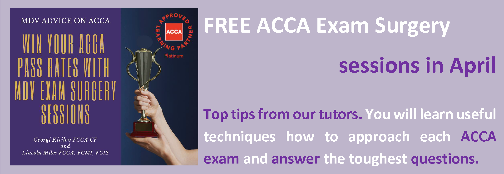 ACCA Exam Surgery sessions